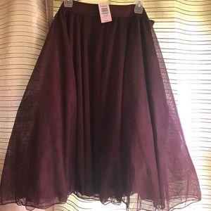 Torrid Wine Tulle Skirt